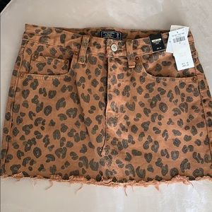 Abercrombie & Fitch Animal denim micromini skirt